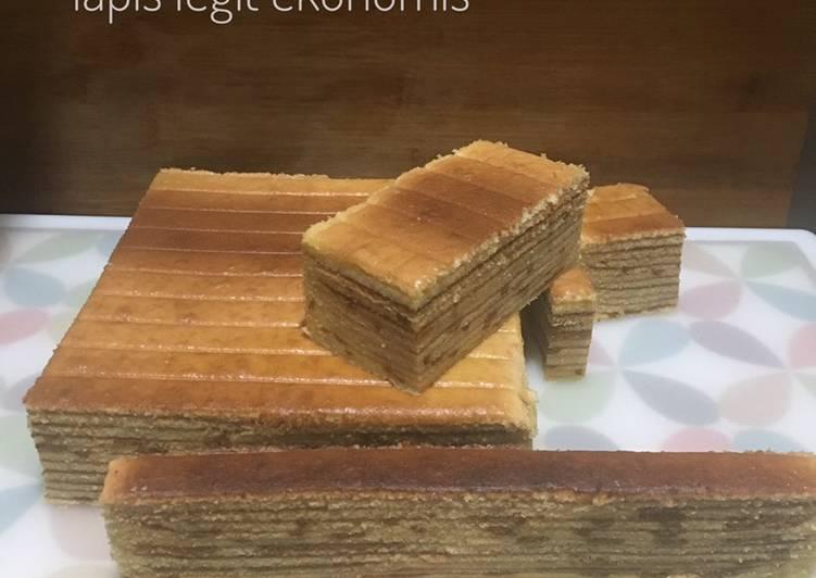 Resep: Lapis legit KW corak pasta mocha (ala-ala, tiruan aja) ala resto