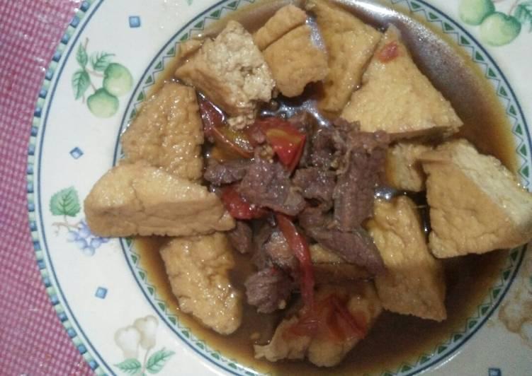 Resep: Semur betawi, daging+tahu goreng coklat#bikinramadanberkesan yang menggugah selera