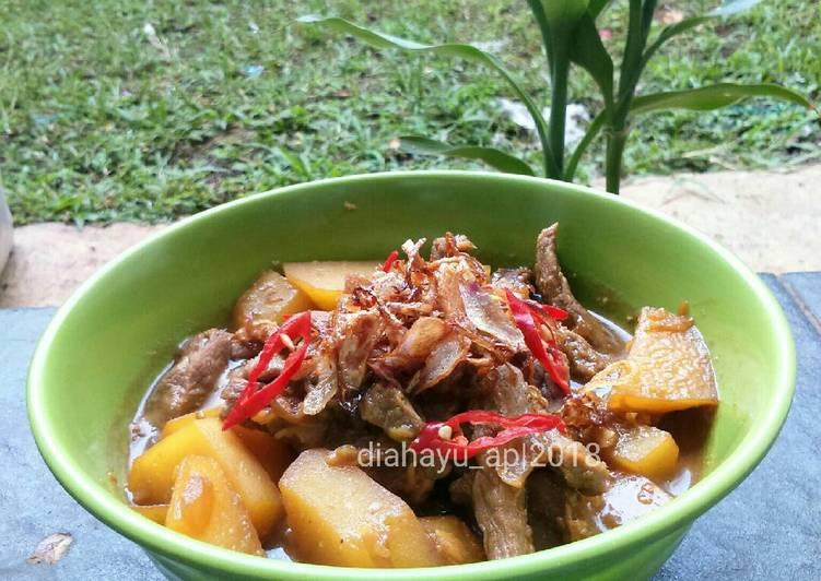 Resep memasak Semur daging betawi enak