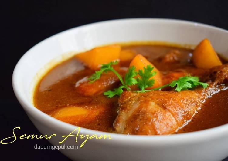Cara mengolah Semur Ayam (mirip Semur Betawi, Yummy!) yang menggugah selera