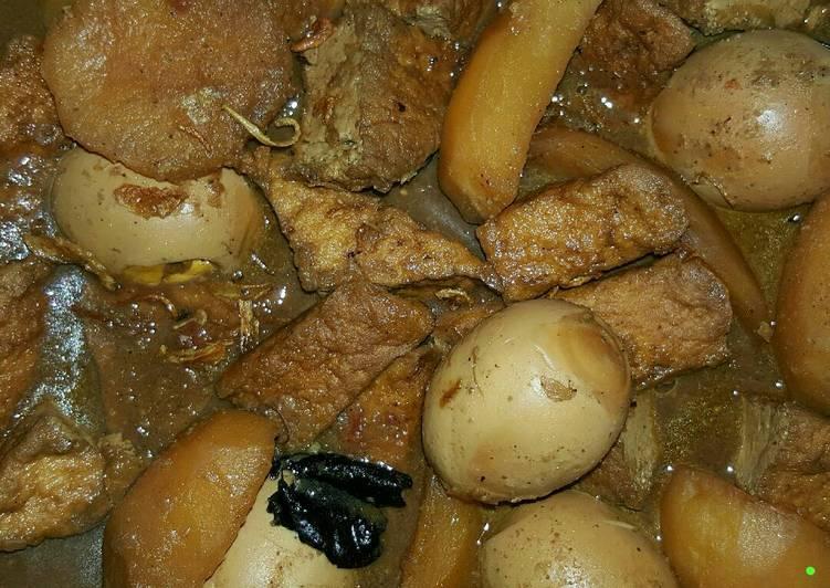 Resep: Semur Betawi (Tahu+Telur+Kentang) ala resto