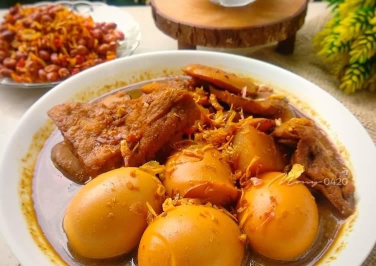 Resep: Semur telur, jengkol, tahu dan kentang lezat