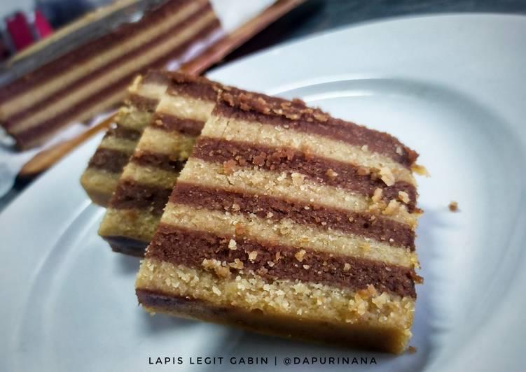 Cara membuat Cake Lapis Legit Gabin yang menggoyang lidah