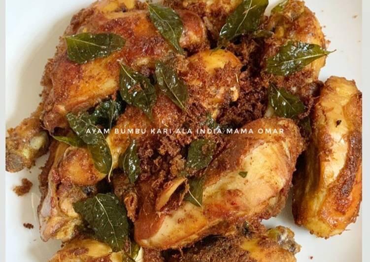 Cara mengolah Ayam bumbu kari ala India (ayam tangkap Aceh) yang menggugah selera