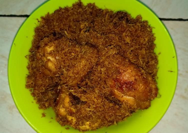 Resep mengolah Ayam serundeng Simple istimewa