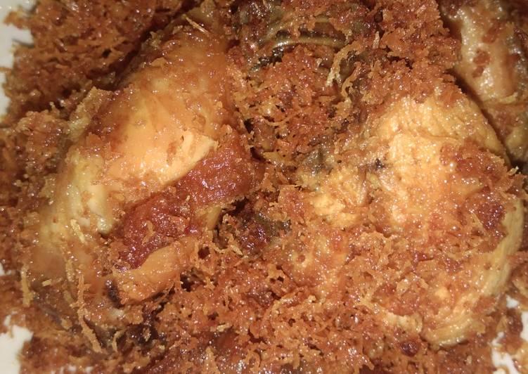Cara mengolah Ayam goreng serundeng yang bikin ketagihan