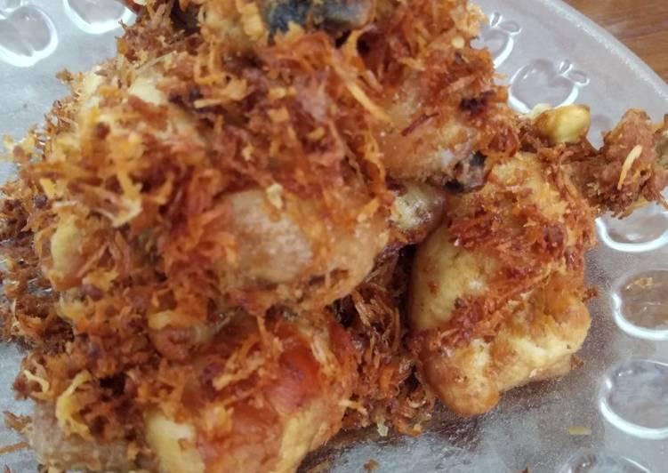 Resep: Ayam goreng serundeng praktis lezat