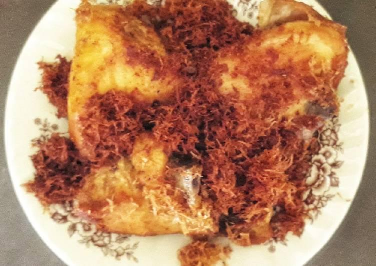 Cara memasak Ayam goreng serundeng sedap