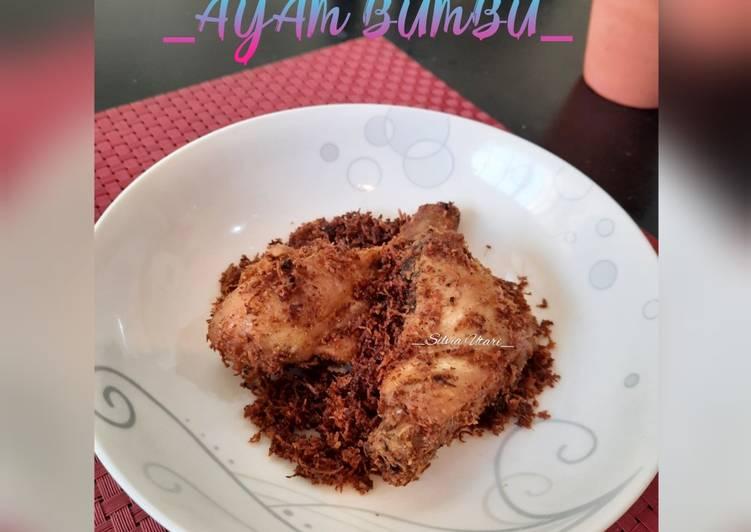 Ayam Bumbu (Serundeng Kelapa)