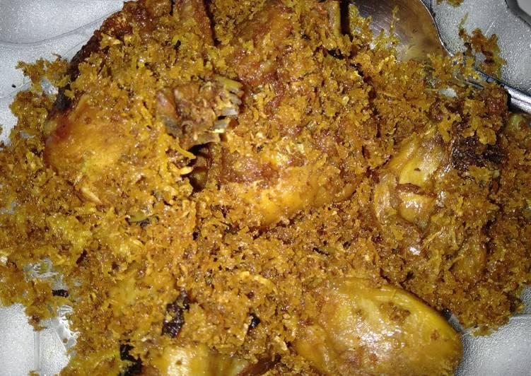 Cara memasak Ayam serundeng gurih