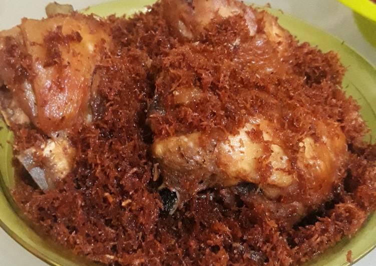 Resep: Ayam Goreng Serundeng Kelapa / Ayam Ragi Solo ala resto