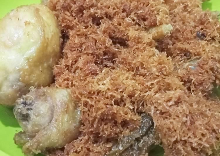 Resep: Ayam goreng serundeng enak