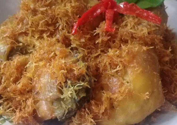 Resep: Ayam goreng serundeng kelapa enak