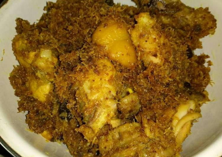 Resep: Ayam Serundeng yang bikin ketagihan