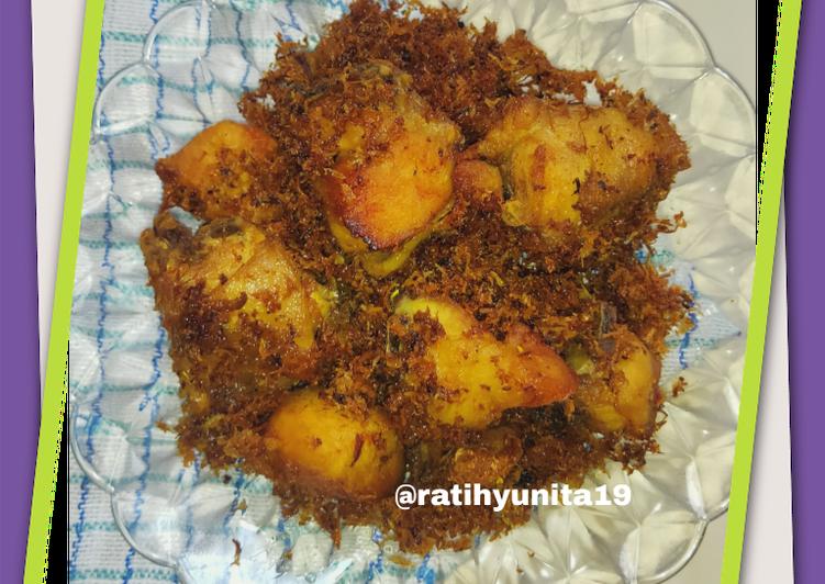 Resep: Ayam goreng serundeng kelapa yang menggugah selera