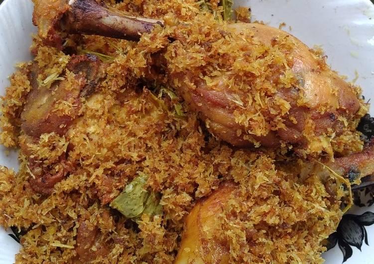 Resep: Ayam goreng serundeng kelapa yang bikin ketagihan