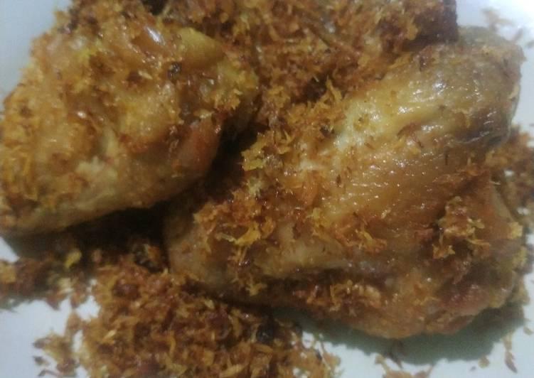 Cara Mudah membuat 47. Ayam goreng serundeng?? lezat