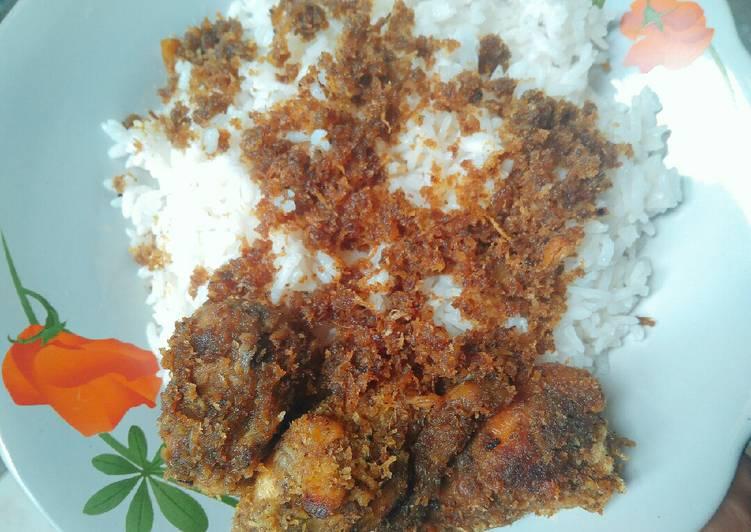 Resep mengolah Ayam Serundeng Kelapa ala resto