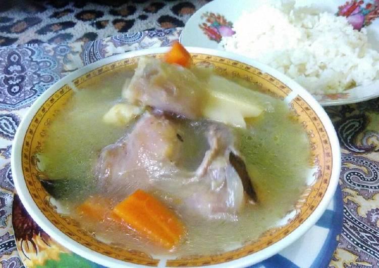 Cara Mudah mengolah Soup sayur kaki kambing istimewa