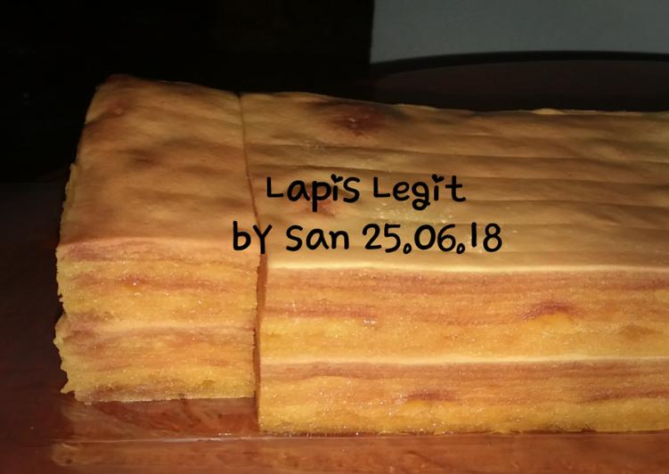 Cara memasak Lapis Legit Soft & Creamy banget 25.06.18 yang menggoyang lidah