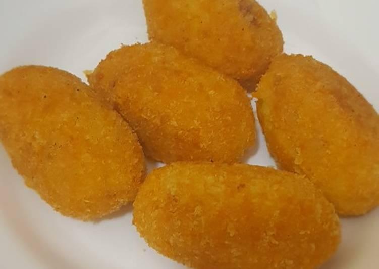 Resep: Kroket kentang isi kornet yang menggugah selera