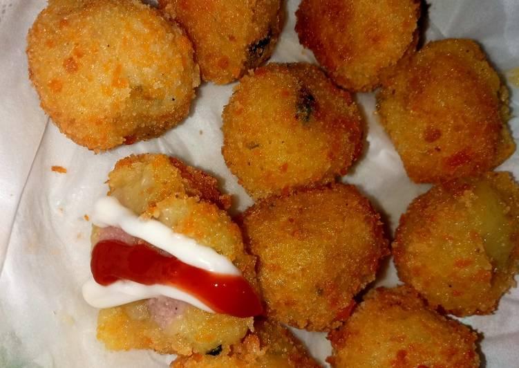 Resep: Kroket kentang ?? isi sosis dan abon lezat