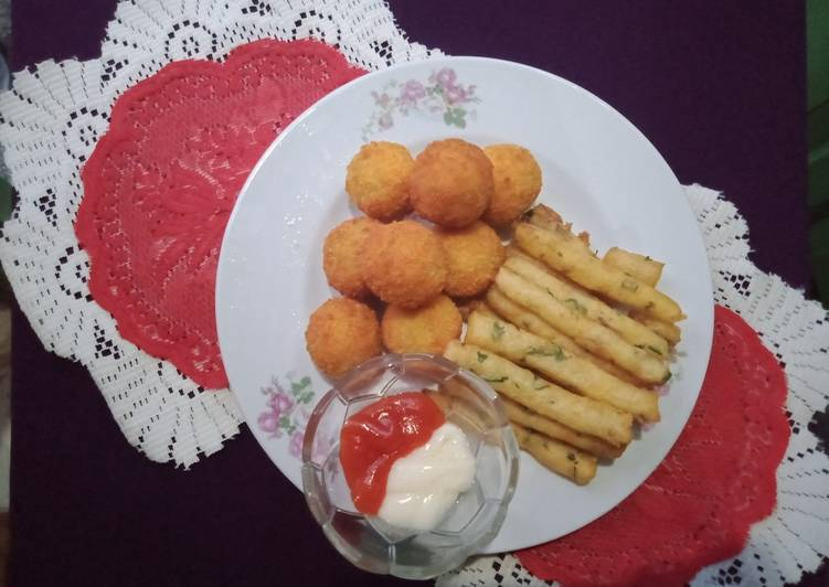 Resep: Potato cheese stick & Potato cheese kroket sedap