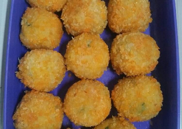Cara Mudah membuat Kroket kentang sayur istimewa