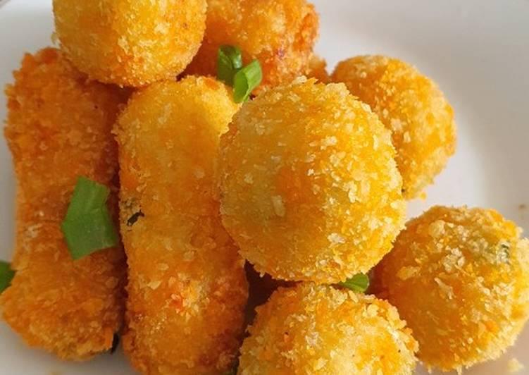 Cara Mudah membuat Kroket kentang keju rawit istimewa
