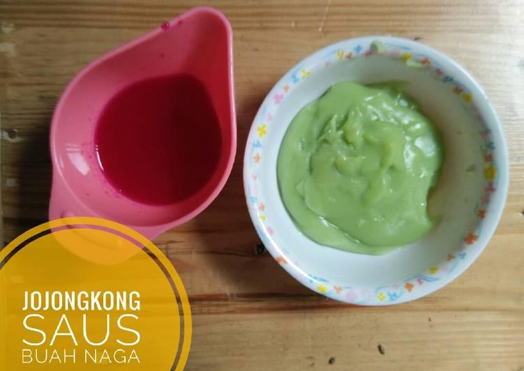 Resep: Jongkong saus buah naga istimewa