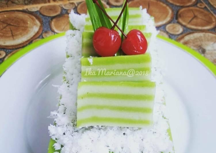 """Cara Mudah memasak """"Kue Lapis Jongkong Pandan"""" ala resto"""