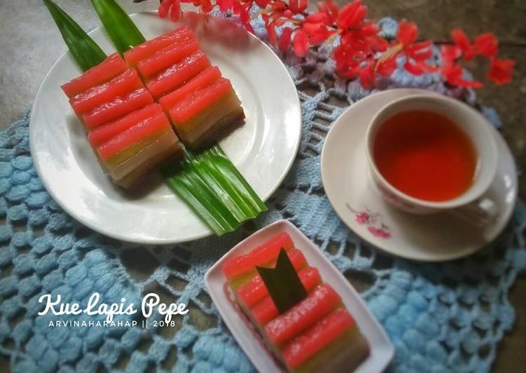 Resep memasak Kue Lapis Pepe (#Pr_LapisTradisional) ala resto