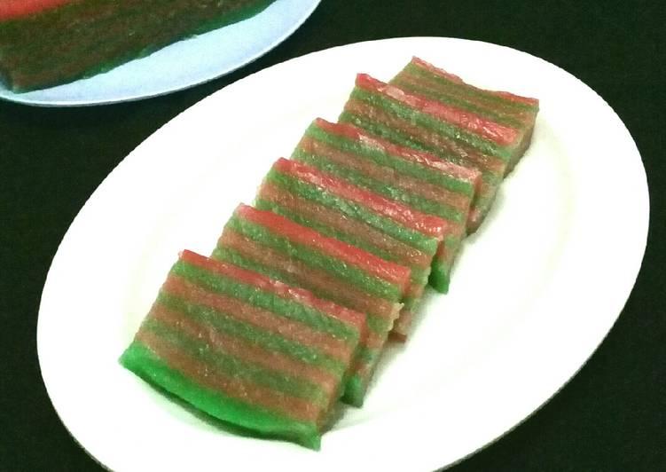 Resep memasak Kue Lapis Kanji/Kue Pepe ala resto