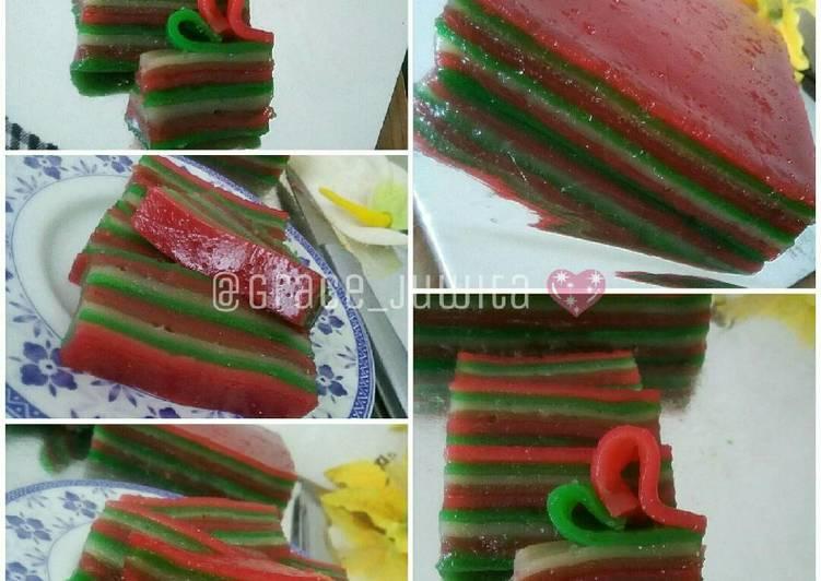 Cara Mudah memasak Kue lapis sagu/ kue pepe istimewa
