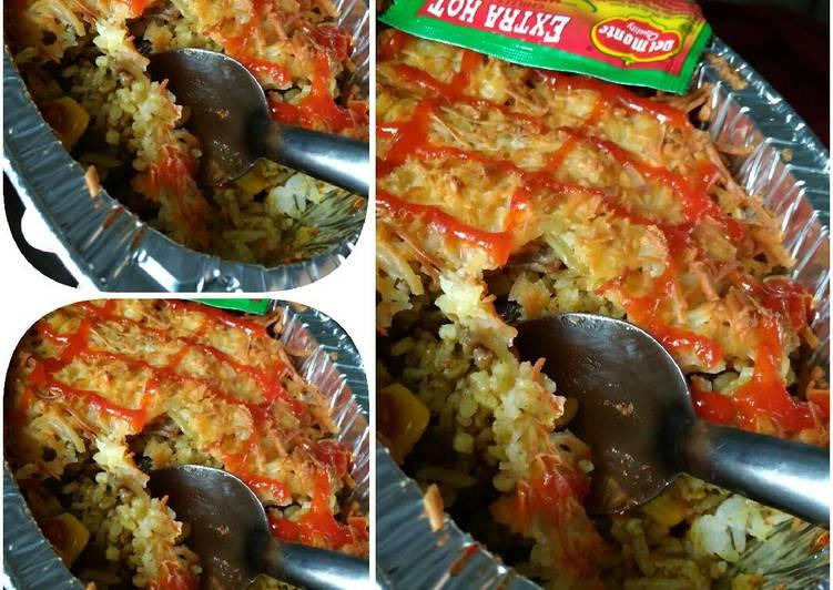 Beef Baked Rice Bukhari