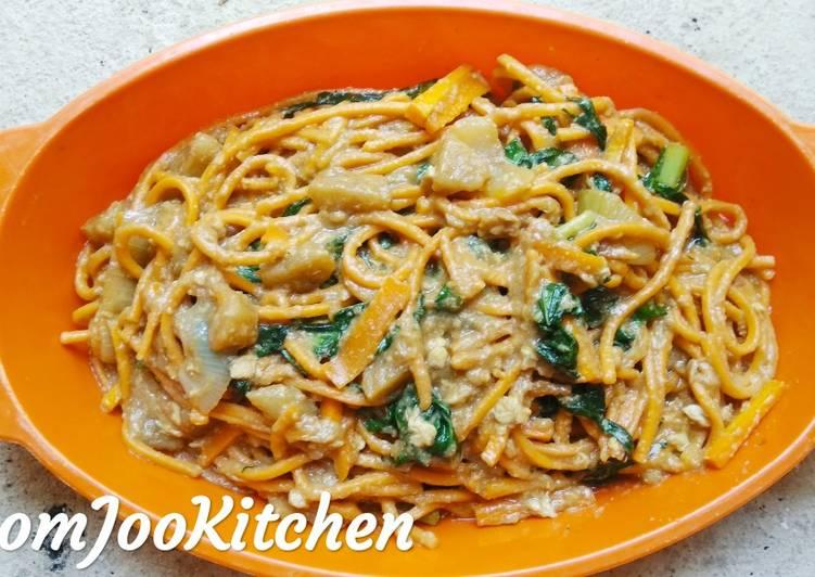 Resep: Mie gomak goreng / spagetti batak ala resto