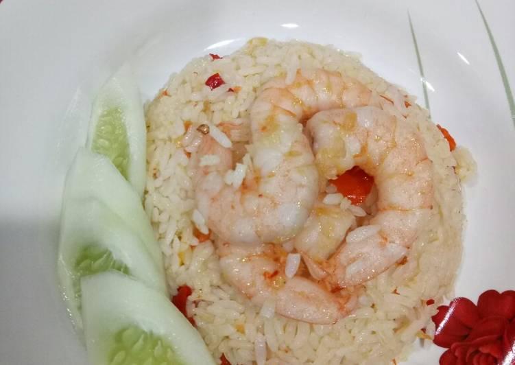 Resep: Nasi goreng udang minimalis ?? ala resto