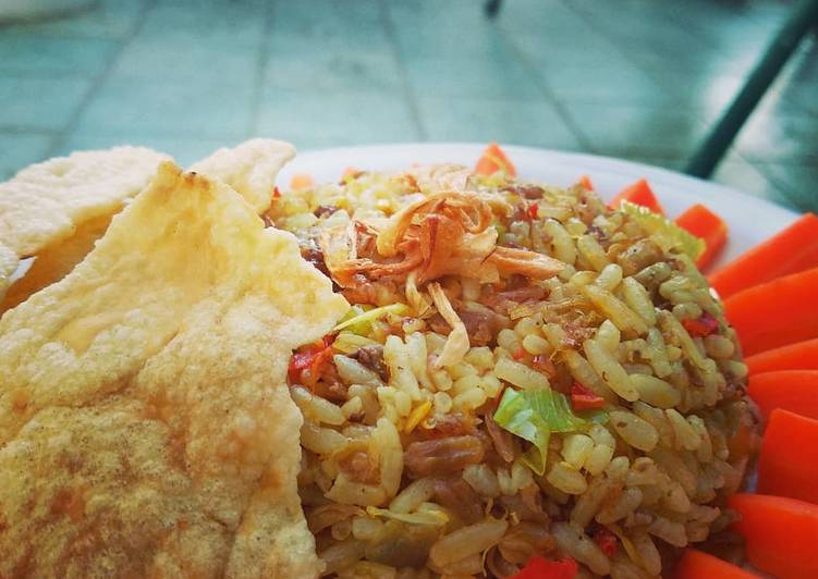 Cara Mudah mengolah Nasi goreng kambing spesial ?? ala resto