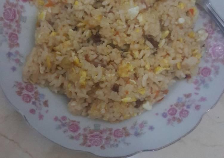 Cara memasak Nasi goreng kambing