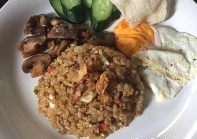 Nasi Goreng Kambing, Jamur dan Sayuran