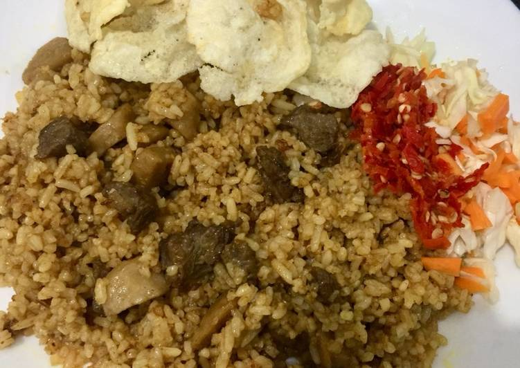 Cara Mudah mengolah Nasi Goreng Kambing Kebon Sirih ala Mamabaz