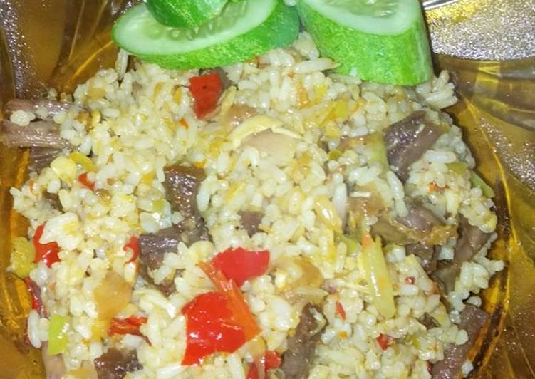 Resep: Nasi goreng kambing sederhana ala resto