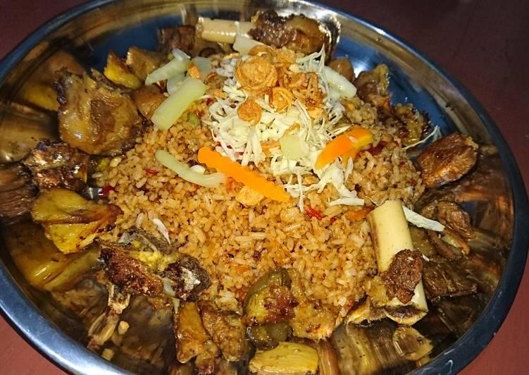 Cara Mudah memasak Nasi goreng kambing petai lezat
