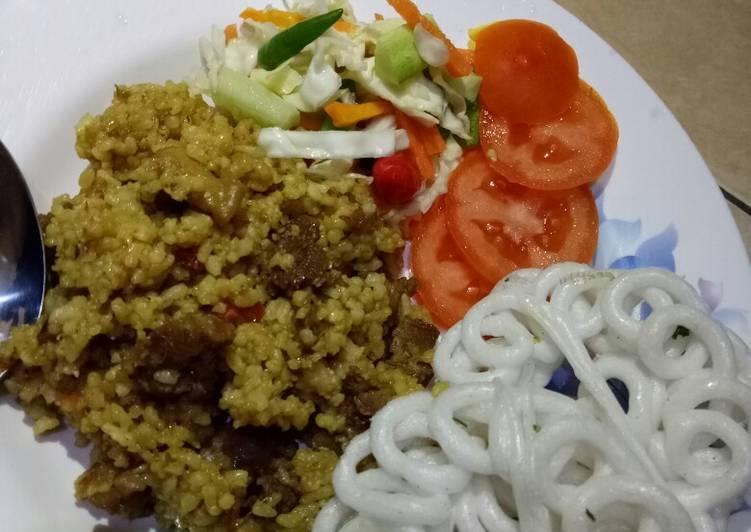 Cara membuat Nasi Goreng Kambing Kebon Sirih yang menggugah selera