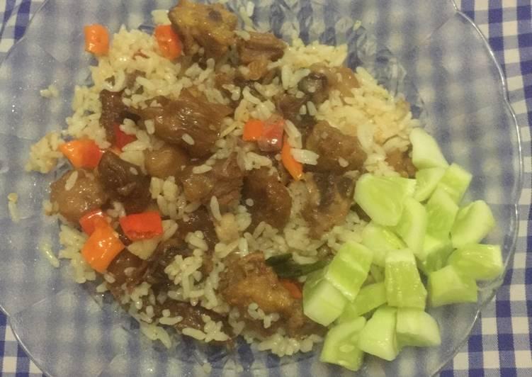 Cara membuat Nasi goreng kambing pedas yang menggugah selera