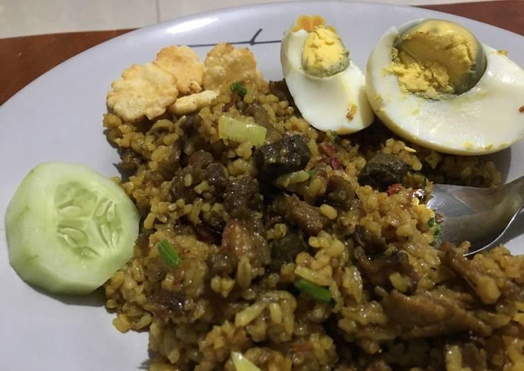 Resep mengolah Nasi goreng kambing lezat