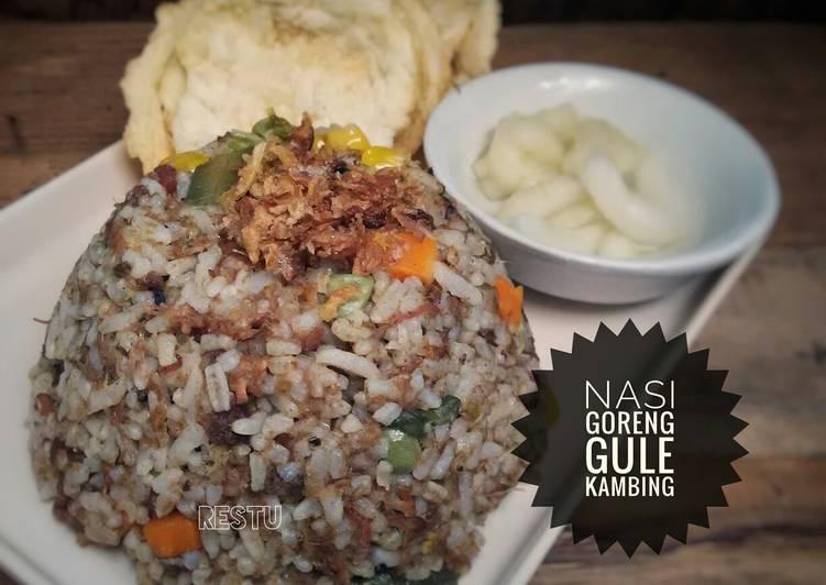 """Resep: Nasi Goreng """"Daur Ulang"""" Gule Kambing ala resto"""