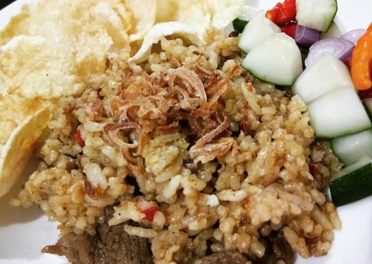 Cara Mudah memasak Nasi goreng kambing