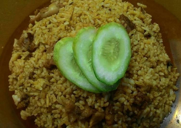 Cara mengolah Nasi goreng kambing lezat