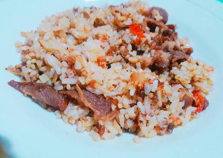 Cara Mudah mengolah Nasi goreng kambing sedap